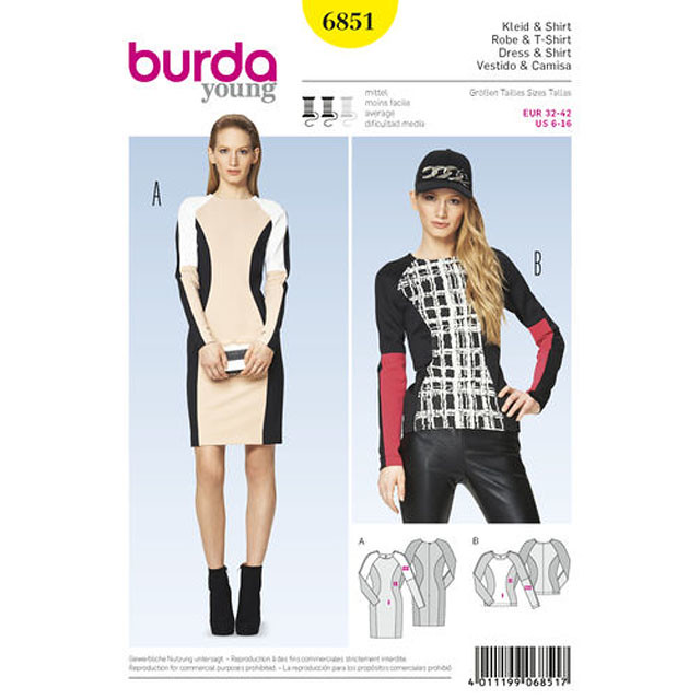 Burda 6851 Pattern envelope