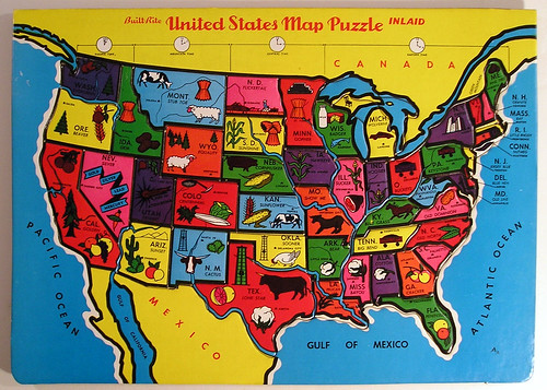 Built-Rite United States Map Puzzle | by Marxchivist
