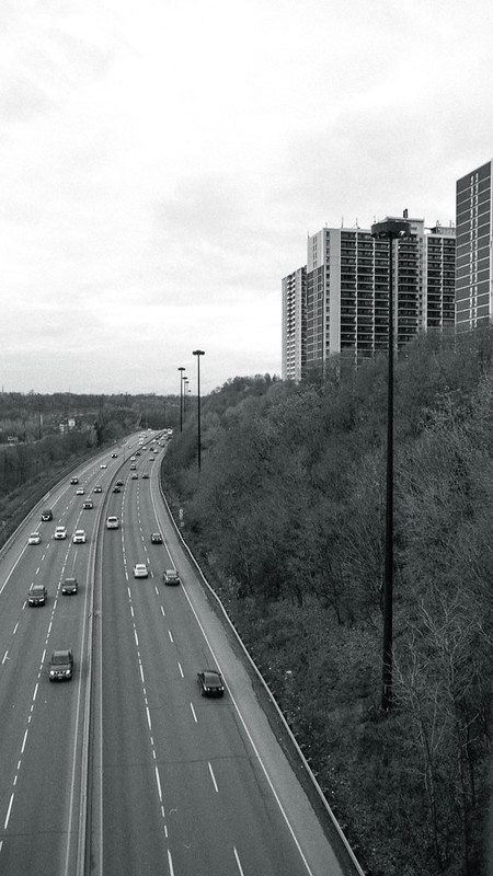 Don Valley Parkway Going Into the Curve