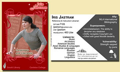 My new trading card | by Pegasus Librarian