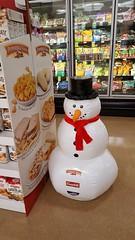 Supermarket snowman