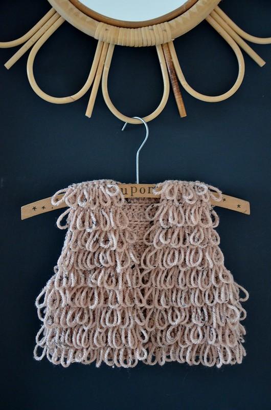 woodwoolstool baby waistcoat