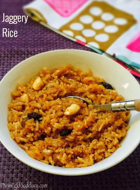 Jaggery Rice Recipe for Toddlers and Kids4