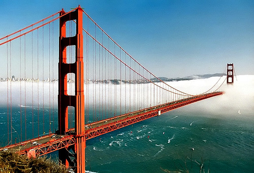 "San Francisco - Golden Gate Bridge ""Biased Fog"" 