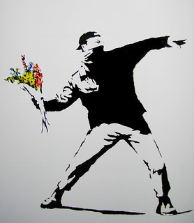 Flower power by Banksy | by solarider