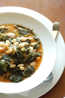 white bean & black cabbage soup | by jules:stonesoup