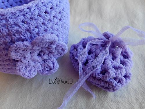 cestini di fettuccia, di lana e di tulle 3