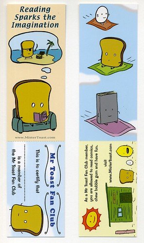 Mr Toast Bookmark | by grickily