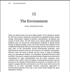 New publication: The Environment (book chapter in International
