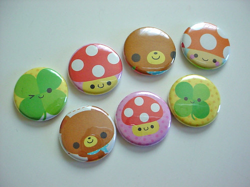 - Kawaii Buttons - | by Warm 'n Fuzzy
