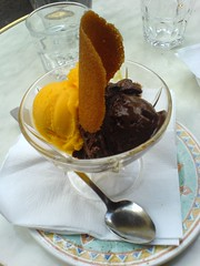 Sorbets mangue et chocolat noir | by clotilde