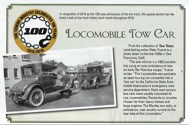 Locomobile Tow Truck