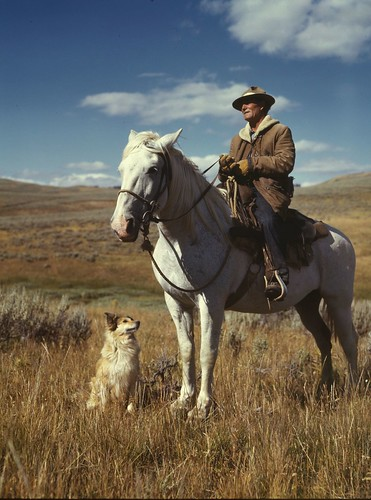 No Known Restrictions: Shepherd with his Horse and Dog by Russell Lee, 1942 (LOC) | by pingnews.com