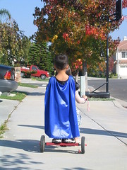 Superhero on a tricycle | by fd