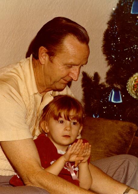 My Grandfather and me at Christmas