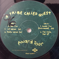 A TRIBE CALLED QUEST:AWARD TOUR(LABEL SIDE-A)