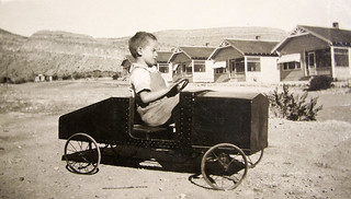 vintage: grandpa driving a fancy car | by David Flam