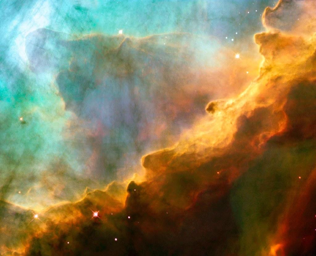 Omega Nebula Close-Up of a Stellar Nursery