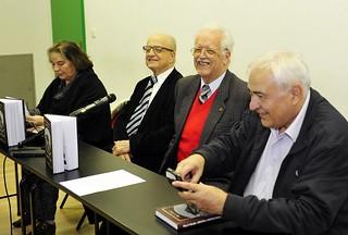 Marija Trinajstić, Petar Strčić, Oleg Mandić i Franjo Butorac na predstavljanju knjige