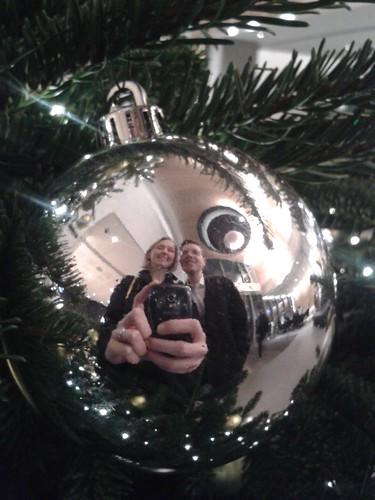 Christmas Bulb Selfie