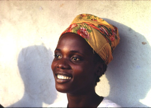 Young woman, Zleh Town, Liberia, 1968