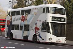 Wrightbus NRM NBFL - LTZ 1143 - LT143 - YouTube DT - Camberwell Green 148 - RATP London - London - 161203 - Steven Gray - IMG_8576