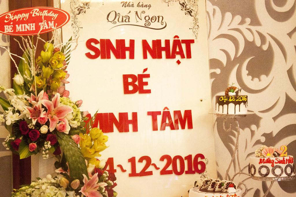 Tiệc sinh nhật bé Minh Tâm 04/12/2016