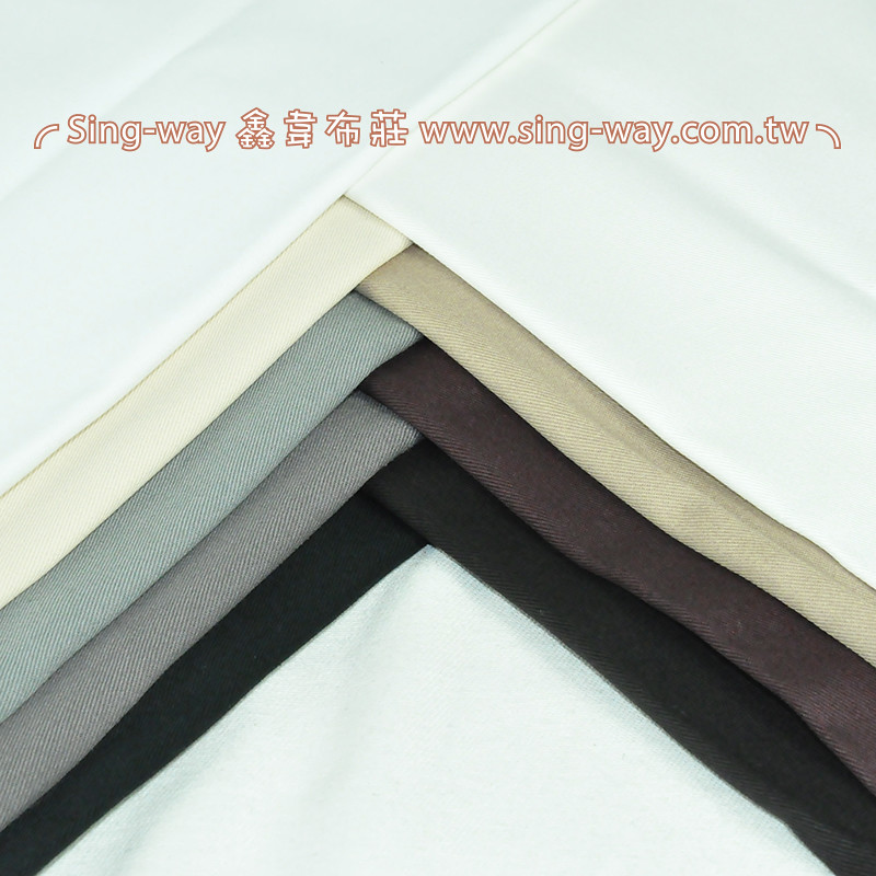 2C590037 灰階色系 純棉素面 斜紋布 4尺9