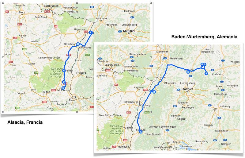 ruta por Alsacia y Baden-Wurtemberg