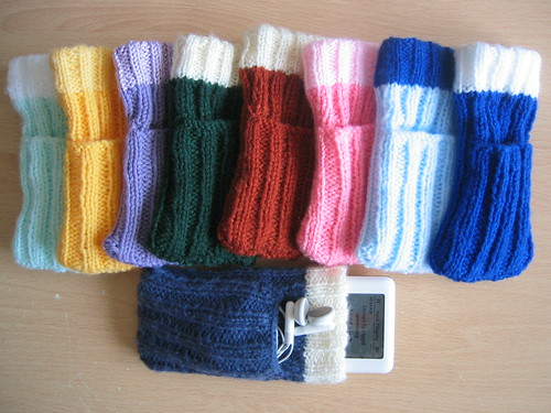 Knitting Pattern For Ipod Sock : Hand-knitted iPod socks Suw Charman-Anderson Flickr