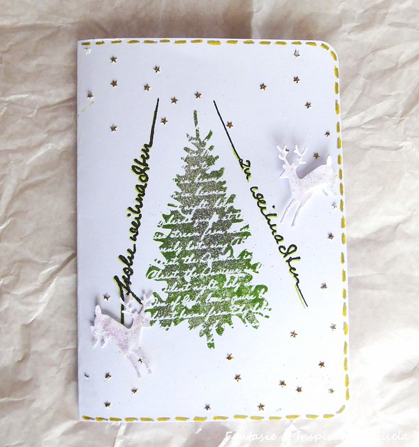Grußkarte mit Weihnachtsbaum