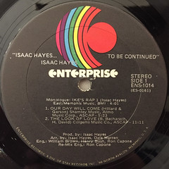 ISAAC HAYES:...TO BE CONTINUED(LABEL SIDE-A)