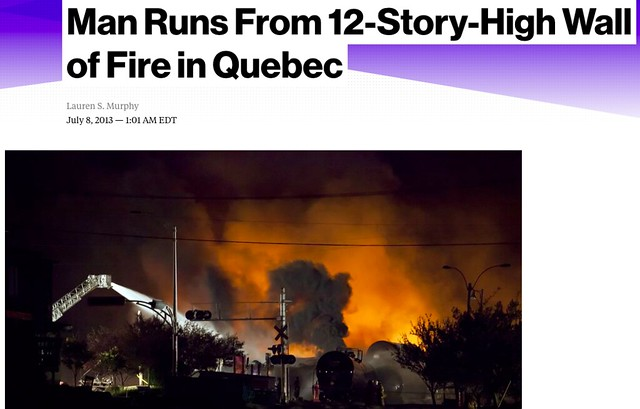 Lauren S. Murphy's story about one man's harrowing experience during the Lac Megantic rail disaster.