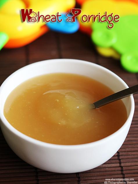 Whole Wheat Milk Porridge for Babies
