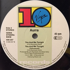 AURRA:YOU AND ME TONIGHT(LABEL SIDE-B)