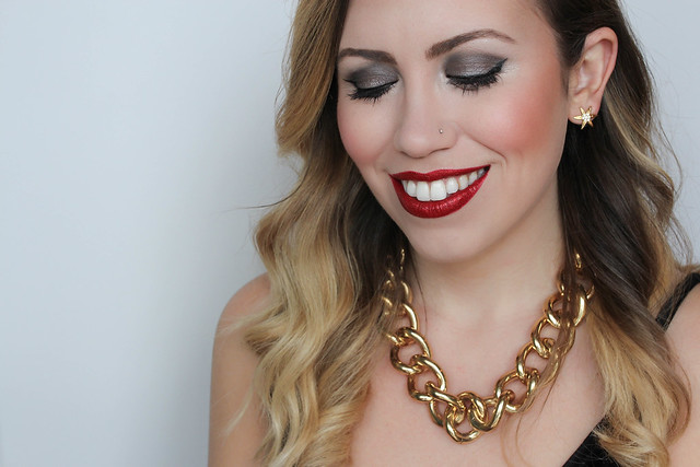 Red Glitter Lips | Festive Holiday NYE Makeup