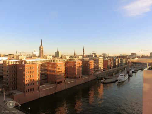 Blick zur Hafencity