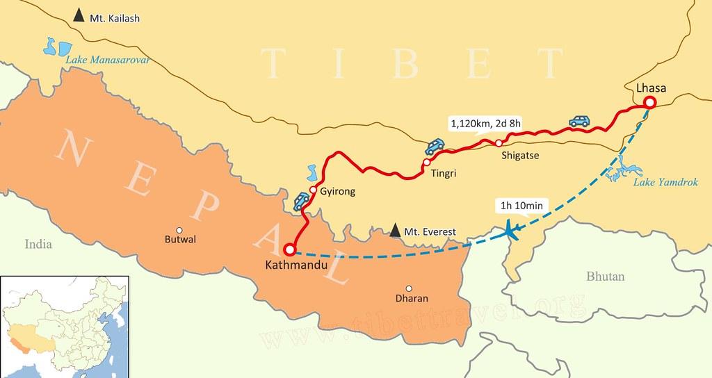 lhasa-kathmandu-map