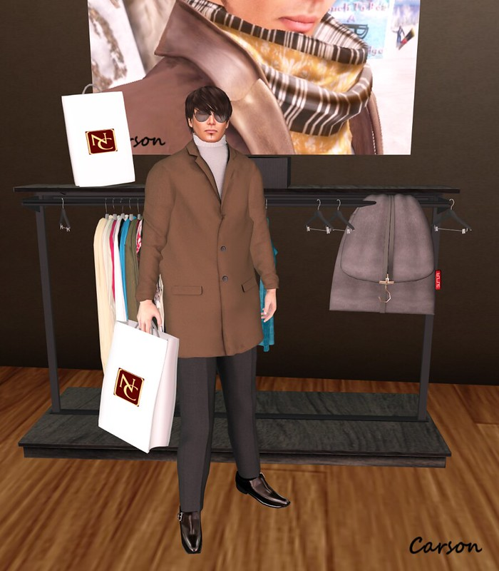newclover Neo Coat brown Neo SLacks black