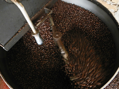 Coffee roasting at an organic coffee plantation in San Sebastian, a Pueblo Magico up in the mountains above Puerto Vallarta