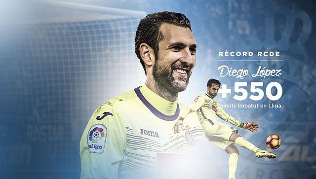 Diego López: 550 minutos imbatido en la Liga