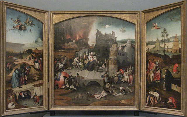 Brussels Altarpiece of the Temptation of St. Anthony,  circa 1530 copy.