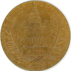 1915 PANAMA PACIFIC EXPOSITION OFFICIAL AWARD MEDAL reverse