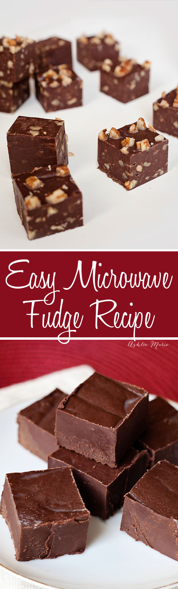 This microwave fudge is easy, fast and delicious