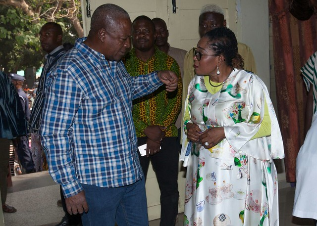 President Mahama and family celebrate Christmas in Bole