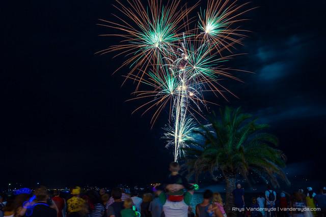 NYE Fireworks, Gosford, NSW, Australia