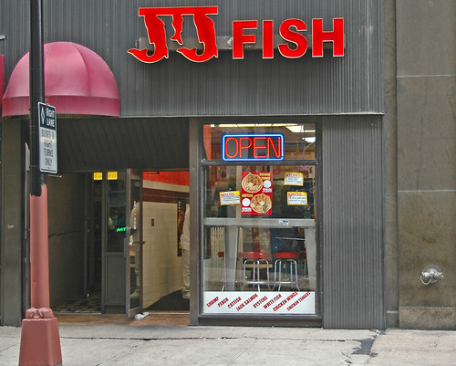 Jj fish storefront of jj fish local fast food restaurant for Jj fish chicago il