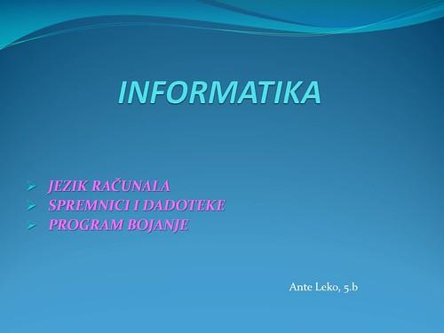 INFORMATIKA - Ante Leko