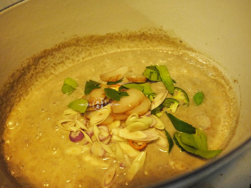 孤身廚房-滿滿新鮮香料版的泰式綠咖哩雞14