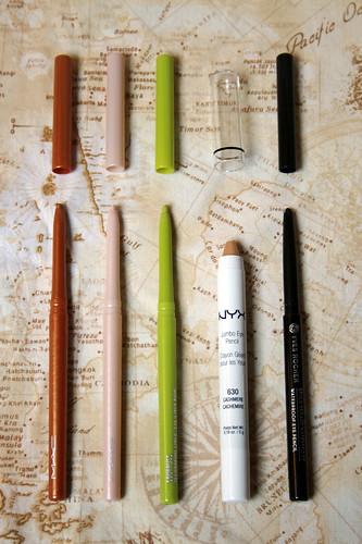 2016 make-up inventory: eyeliner